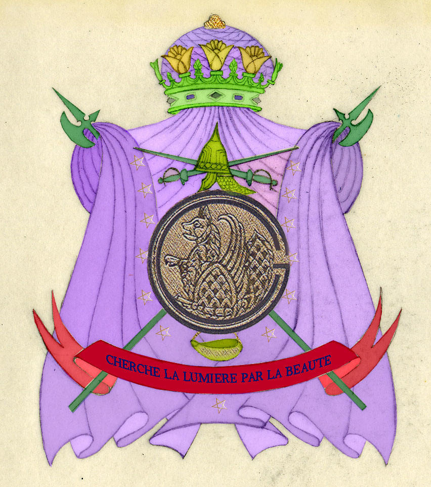 """Official Family Crest and """"Grandes Armes"""""""